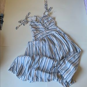 Free People Striped Long Dress.